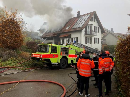 Brand in Urdorf