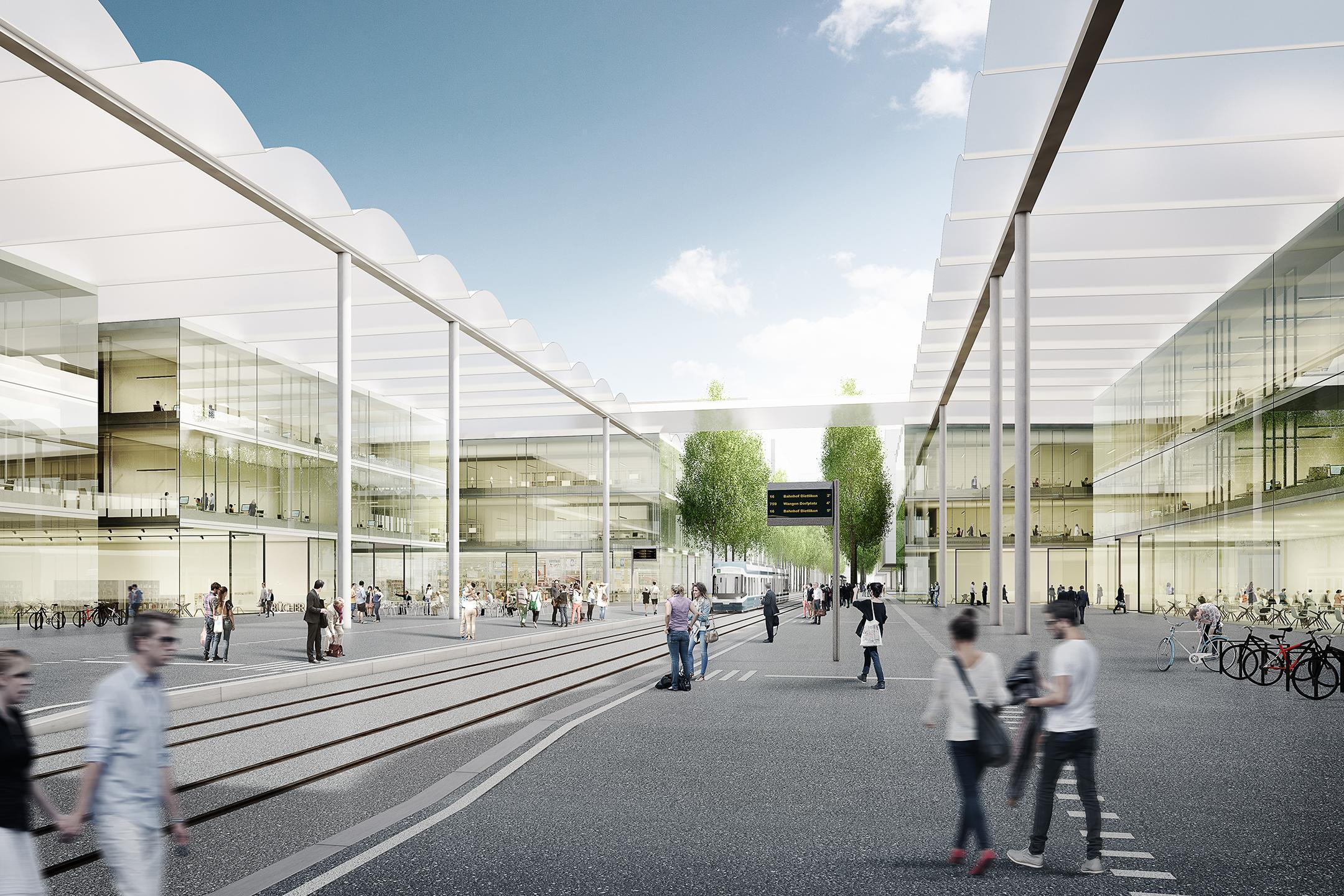 Visualisierung des Campus Innovationspark Zürich