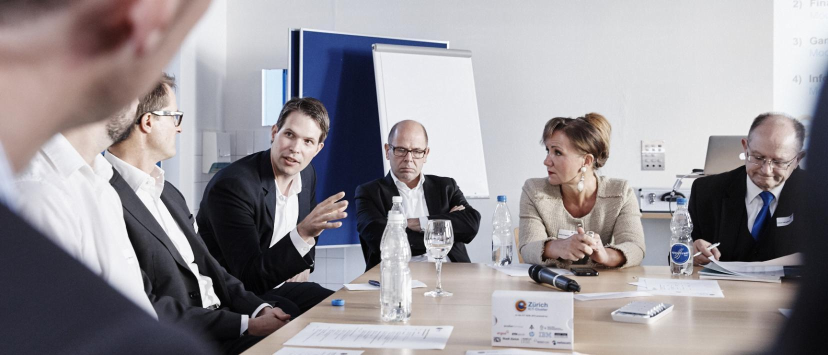 Diskussion am ICT-Cluster Dialog