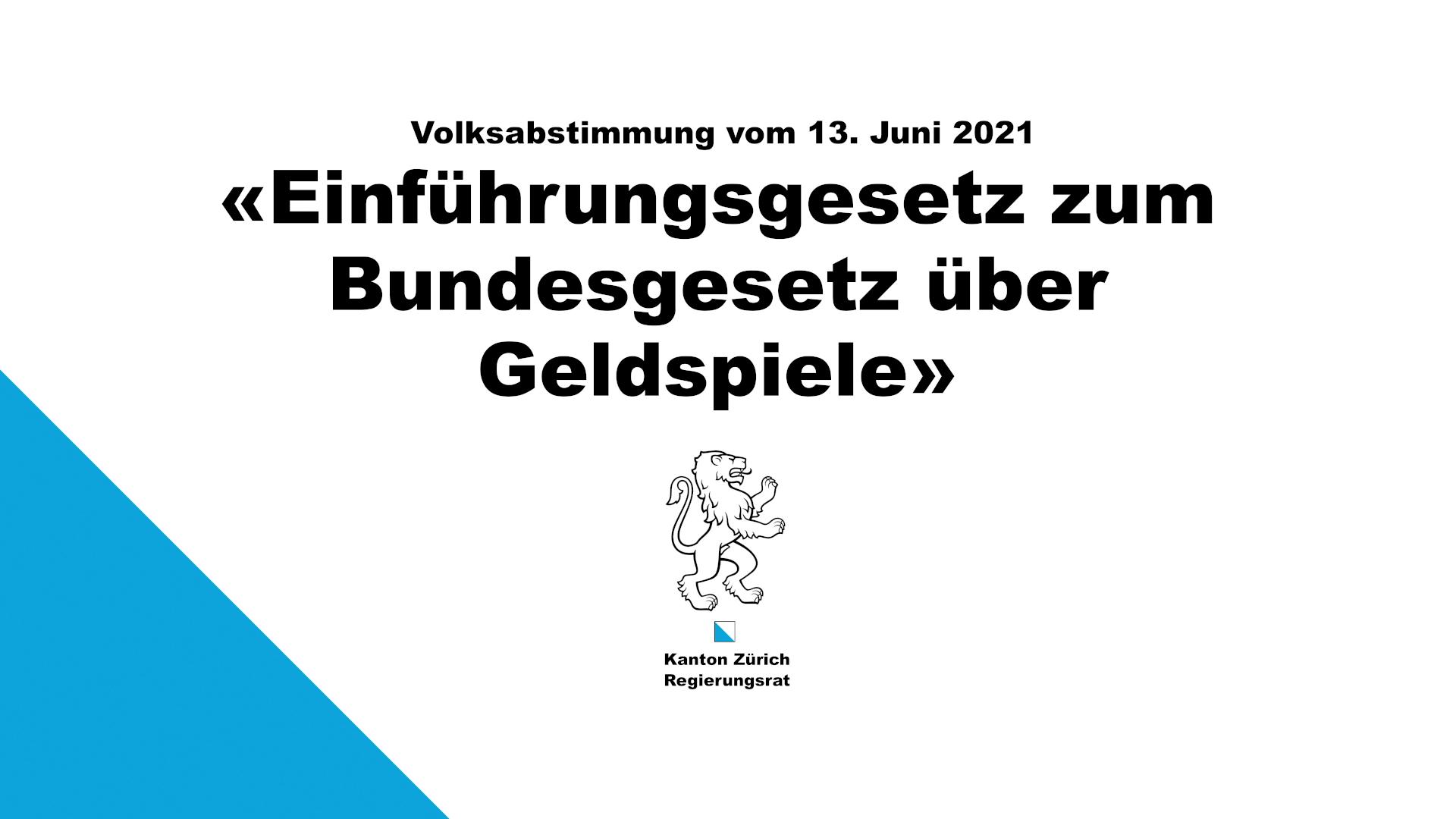 Abstimmungsvorlagen vom 13. Juni 2021   Kanton Zürich